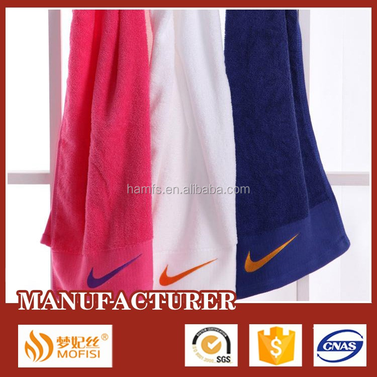 Wholesaler Plain Color High Quality Safe Eco-friendly Cotton Gym Towel