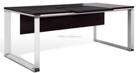 sleekly designed lines open storage space jesper collection executive desk