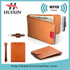 High quality leather money clip business cards wallets RFID protect money clip