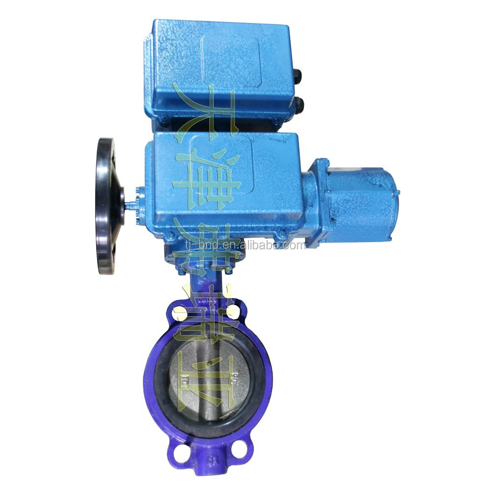 Motorized actuated valve butterfly , electric actuator butterfly valve