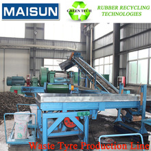continuous waste tire recycling equipments