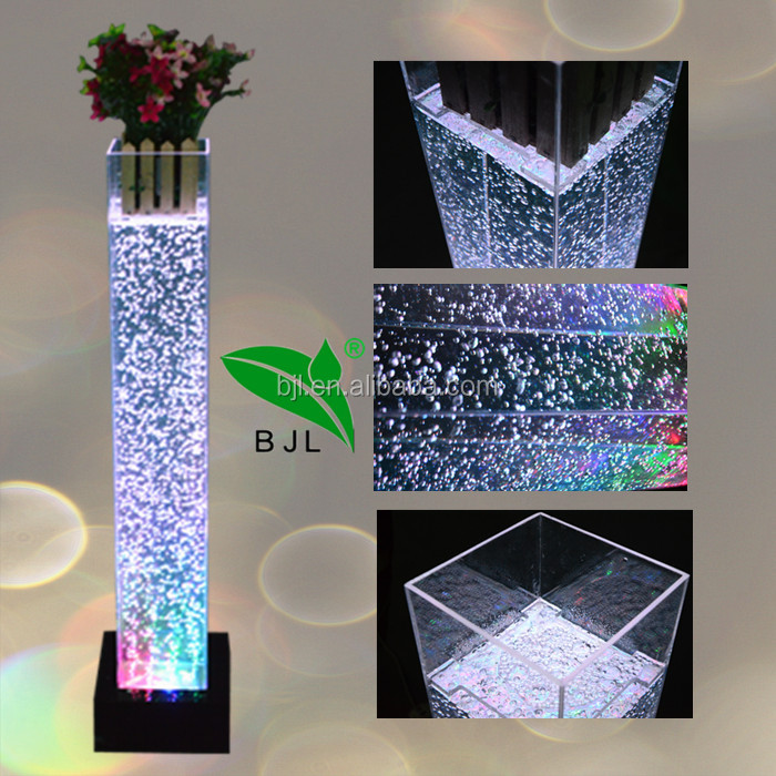 multi color decorative <strong>wedding</strong> water bubble column pillars lighting <strong>wedding</strong> for sale