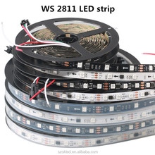 WS2811 5m/roll DC12V 2811 ic 5050 SMD independent addressable RGB led strip ,30/48/60leds/m led pixels1 ic control 3 led