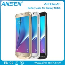 reseller opportunities 4200 mAh High quality portable slim battery case for Samsung Galaxy Note5