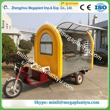 motorcycle mobile street food vending cart with wheels