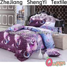 Microfiber fabric bedding set/ home printing wholesale bed sheet