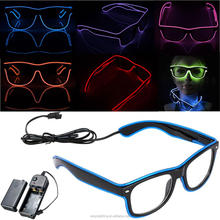 Most Popular Gift Party Decoration Fascinating Glowing EL Wire LED Neon Glasses Costume Nightclub Party