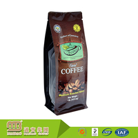 Higher Barrier Custom Printing Heal Seal Laminated Plastic Box Bottom Pouch Packaging For Coffee Beans