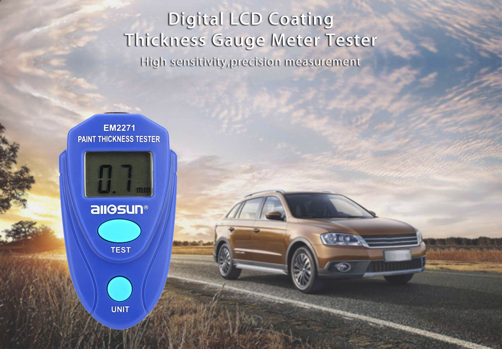 Digital <strong>Thickness</strong> Gauge LCD Coating Meter Car <strong>Thickness</strong> Meter EM2271 Tester Instrument