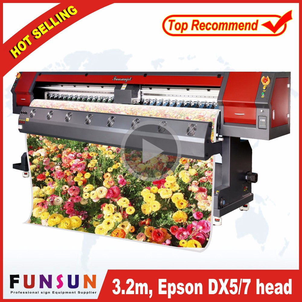 Funsunjet FS-3202M 10ft digital leather printing machine /transfer paper printer direct to fabric