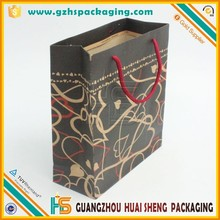 Small order qty custom size red printing paper bags kraft bags with good quality