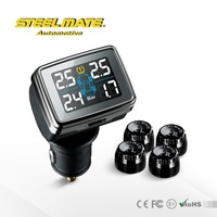 Steelmate DIY TPMS TP-79 LCD cigarette lighter, Tire pressure monitoring system with External sensor
