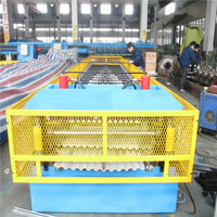1250mm Material Width, Steel Metal Corrugated Panel Forming Machine With Punching
