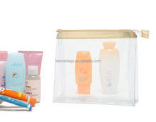 Waterproof small zipper fashion travel pvc clear cosmetic bag