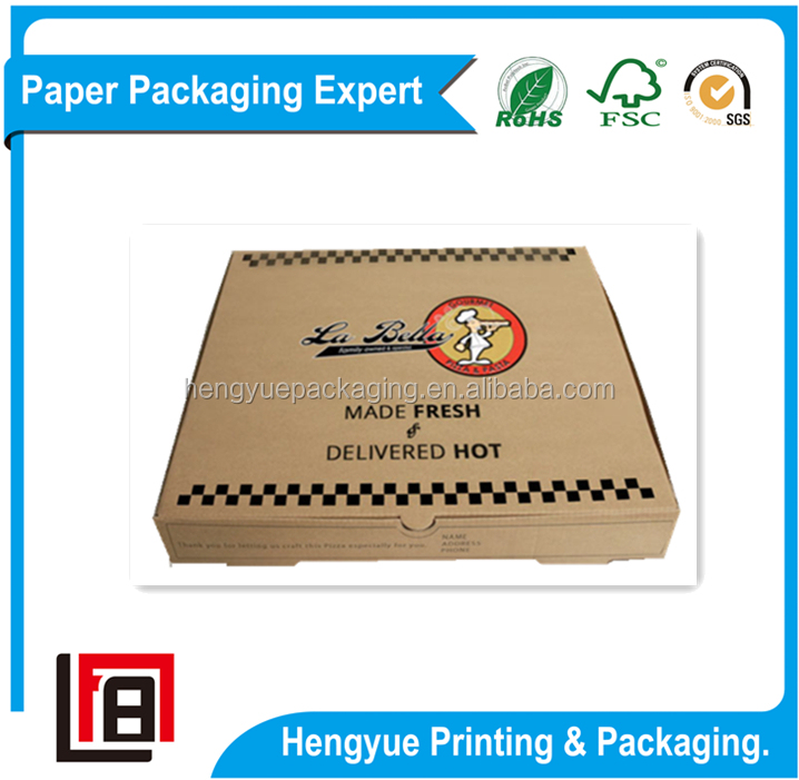 Small Size Shipping Printed Brown Pizza Boxes with Cheap Price and High Quality