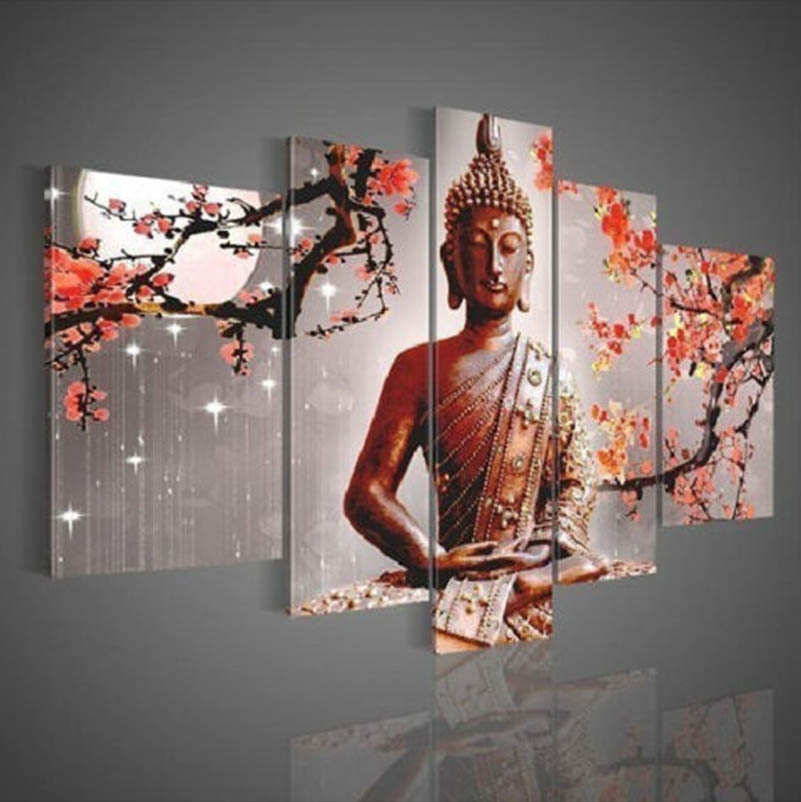 Yes Frame and Canvas Support Base buddha oil painting fine art on canvas prints cheap