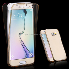 High Quality Ultra Thin 360 Degrees Full Cover Tpu Phone Case For Samsung Galaxy S7 S7 Edge Crystal Clear Case