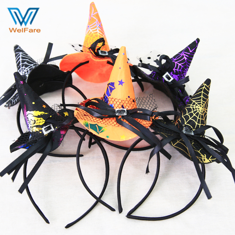 holiday supplies halloween decorations high quality halloween witch hair band for kids - High End Halloween Decorations