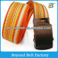 "1-1/4"" Stripe Canvas Belt with Military Buckle for Kids"
