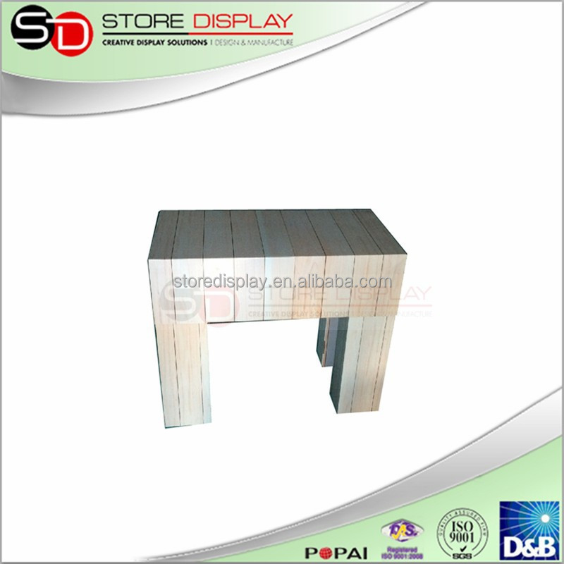 POP table cardboard chair, customized corrugated hard cardboard furniture , exhibition booth paper chair