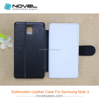 HOT Sale !!! new sublimation leather phone case for samsung galaxy note 3