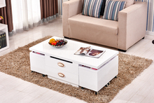 New modern space saving furniture expanding coffee table with 4 stool