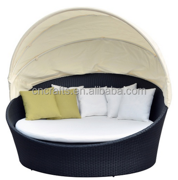 Outdoor round wicker daybed (LD-HC0159)
