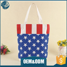 Custom hot selling canvas cooler bags shopping cotton zipper bag