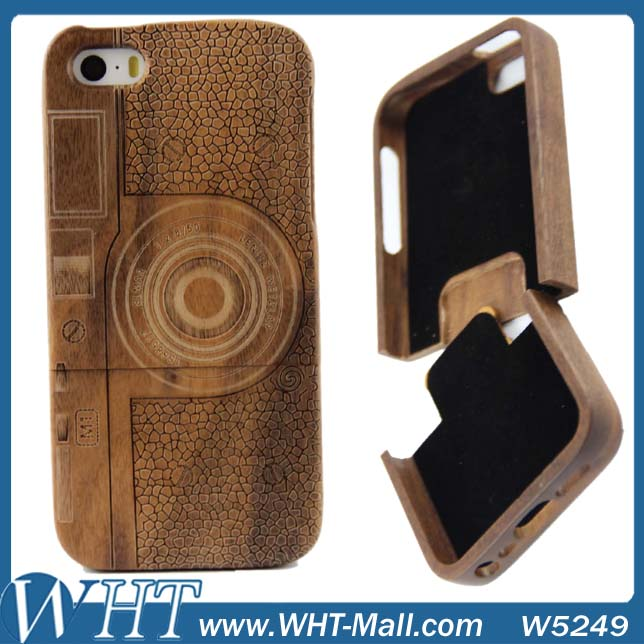 Wholesale Wood Bamboo Mobile Phone Case For iPhone 5 5S 4 4S For Samsung Galaxy S5 Note 3