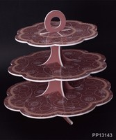 Paper Material cake display stand for Sale, 3 tier cupcake stand
