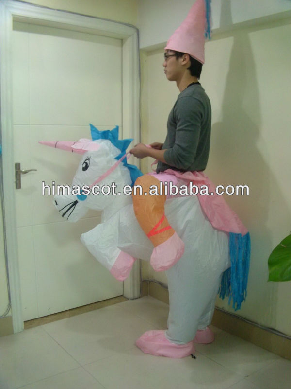 HI CE high quality inflatable costume horse for adult,riding horse costume