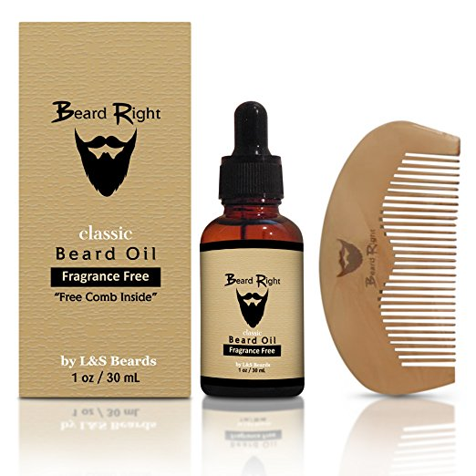 Beard Oil and Conditioner-100% Natural - Softens Your Beard and Stops Itching - With Nourishing Jojoba Oil, Almond Oil---585050