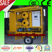 ZYM trailer type insulating oil purifier, transformer oil purification machine/oil filtration