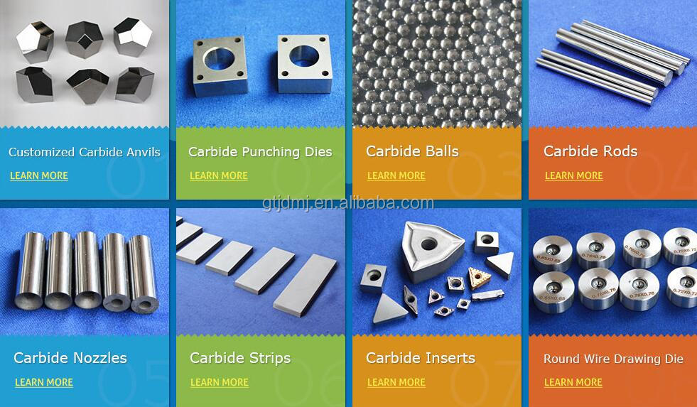 High performance hard alloy/steel multiple-facet anvils