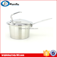 Stainless steel 201 capasule cookware milk boiling pot induction milk pot
