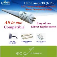 All in one LED Tube T8;LED lamps designed to retrofit linear fluorescent lamps T8(G13)