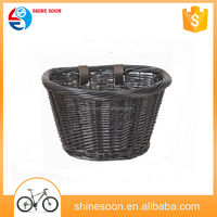 wholesale wicker baskets woven bicycle basket /natural pet bicycle bike baskets