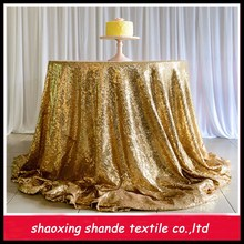 2015 new design sequin glitter table cloth for wedding