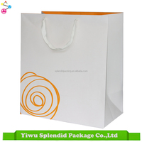 Cotton Handle Ivorycard Material Eco Friendly Paper Bag Shopping Quality Reusable Bag