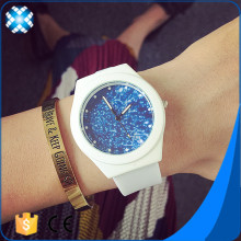 New Design Silicone Smart Watches White band and starry case