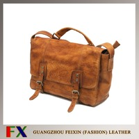 China wholesale Europe style handmade vintage quality cow leather man bag / man messenger bag / leather man bag