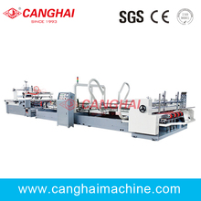 automatic corrugated box folder gluer machine /carton folding glue machine