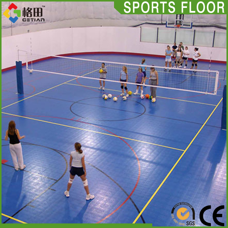 Top quality volleyball courts removable,pp interlocking volleyball floor tiles,interlocking sports flooring for volleyball