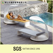 Unique Style Beautiful Handmade Sun Bed Use In Garden And Pool , Outdoor Luxury Quality Wicker Rattan Daybed With Canopy