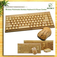custom made wirless wood keyboard and mouse
