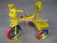 From China low price baby tricycle zhejiang ping hu new design plastic toy kids trike animal head shape tricycle pedal bike