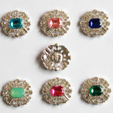 Elegant Rhinestone <strong>Flat</strong> Back Embellishments Rhinestone Button For DIY Bling Accessories MYGRB009