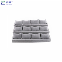 ZHIHUA brand Custom Holder Stand Gray Watch Exhibition box Watch Display with mini Pillow