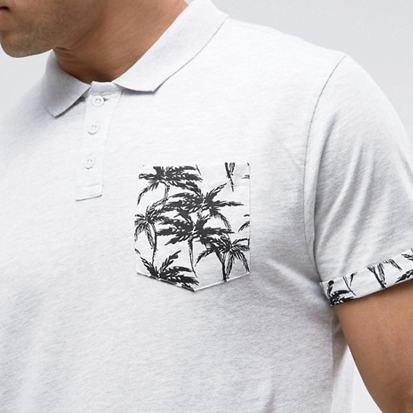 New products 2017 trending products palm print design polo shirt mens polo