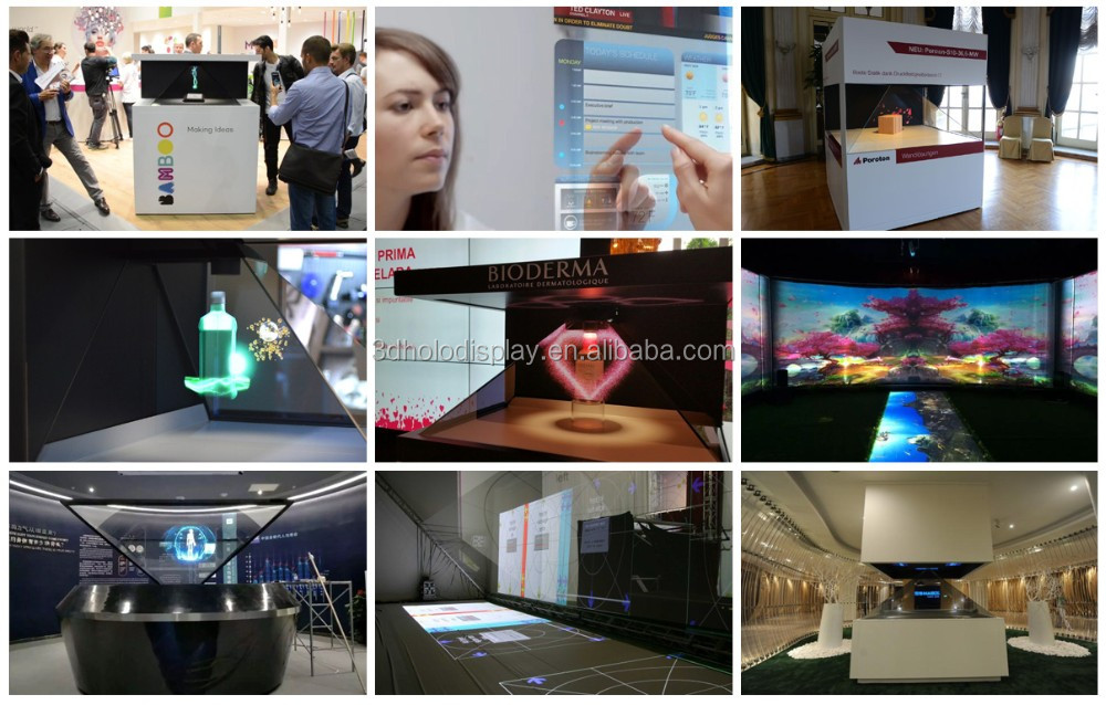 China supplier sales large sized Virtual Projection stage 3D holographic projection